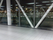 Difficulties for perception at Schiphol airport: A glass fassade.